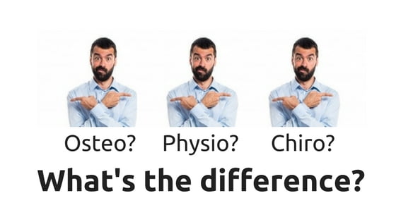 What's the difference between an Osteopath, a Physiotherapist and a Chiropractor?